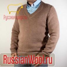 Мужской шерстяной пуловер Какао