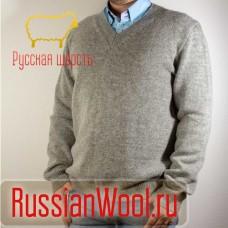 Мужской шерстяной пуловер Серый
