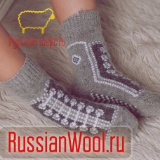 Носки вязаные шерстяные детские Шнурки