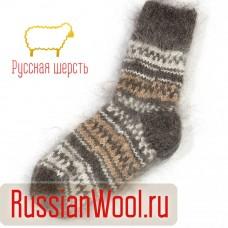 Носки пуховые мужские ручной вязки