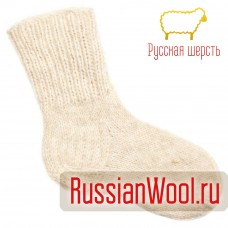 Носки мужские шерстяные ручной вязки толстые белые