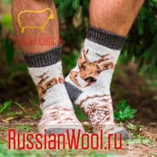 Мужские носки шерстяные Олень