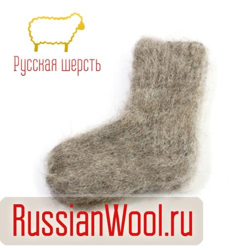 Носки детские пуховые ручной вязки