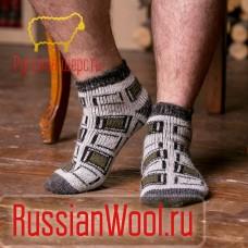 Мужские шерстяные носки короткие Куб