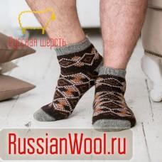 Мужские шерстяные носки короткие Ромб