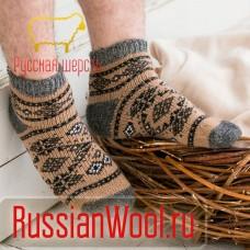 Мужские шерстяные носки короткие Узор