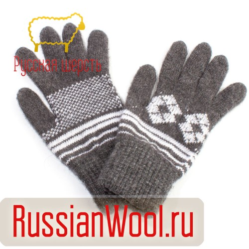 Перчатки мужские шерстяные Ромб