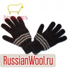 Перчатки мужские шерстяные с полосками