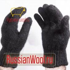 Перчатки мужские шерстяные черные