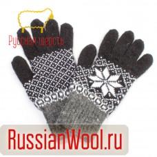 Перчатки мужские шерстяные Сажа