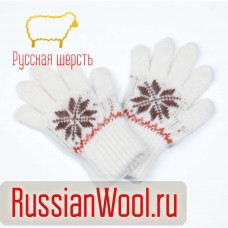 Перчатки детские белые Звезда