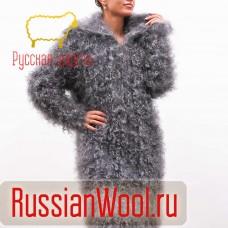 Пальто пуховое женское воротник широкий