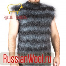 Мужской пуховый жилет Полосатый