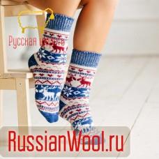 Носки шерстяные женские Зима
