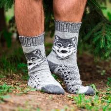 Мужские шерстяные носки Волк