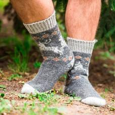 Мужские шерстяные носки Олень