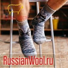 Мужские шерстяные носки Волк дымка