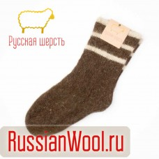 Мужские шерстяные носки полоски
