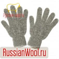 Перчатки женские шерстяные серые
