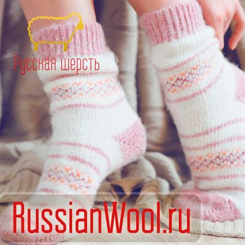 Носки шерстяные женские традиция (зефир)