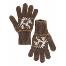 Перчатки детские коричневые Олень