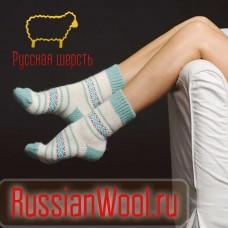 Носки шерстяные женские традиция (незабудка)