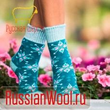 Носки шерстяные женские Звезды