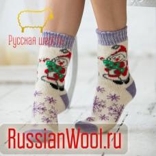 Носки шерстяные женские Дед Мороз