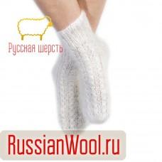 Носки пуховые женские белые